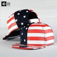 2017 Fashion Canvas Snapback Baseball Cap New Gorras American Flag Patterncap Autum Hip Hop Flat Hat