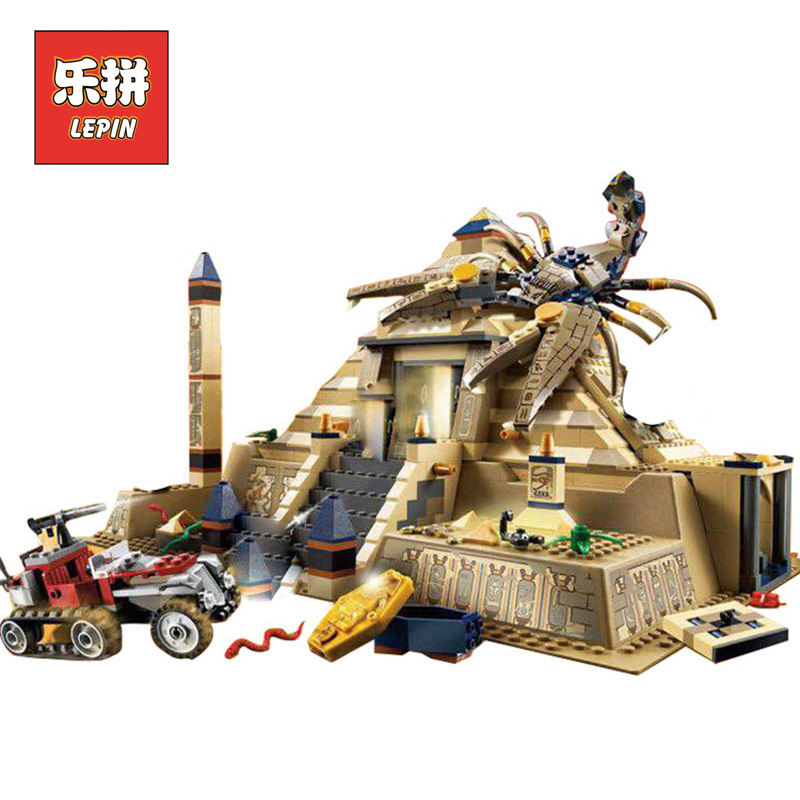 купить Lepin 31001 Egypt Pharaoh Series Scorpion Pyramid Building Blocks Bricks Toys Children Educational Model Gifts LegoINGlys 7327 по цене 2895.82 рублей