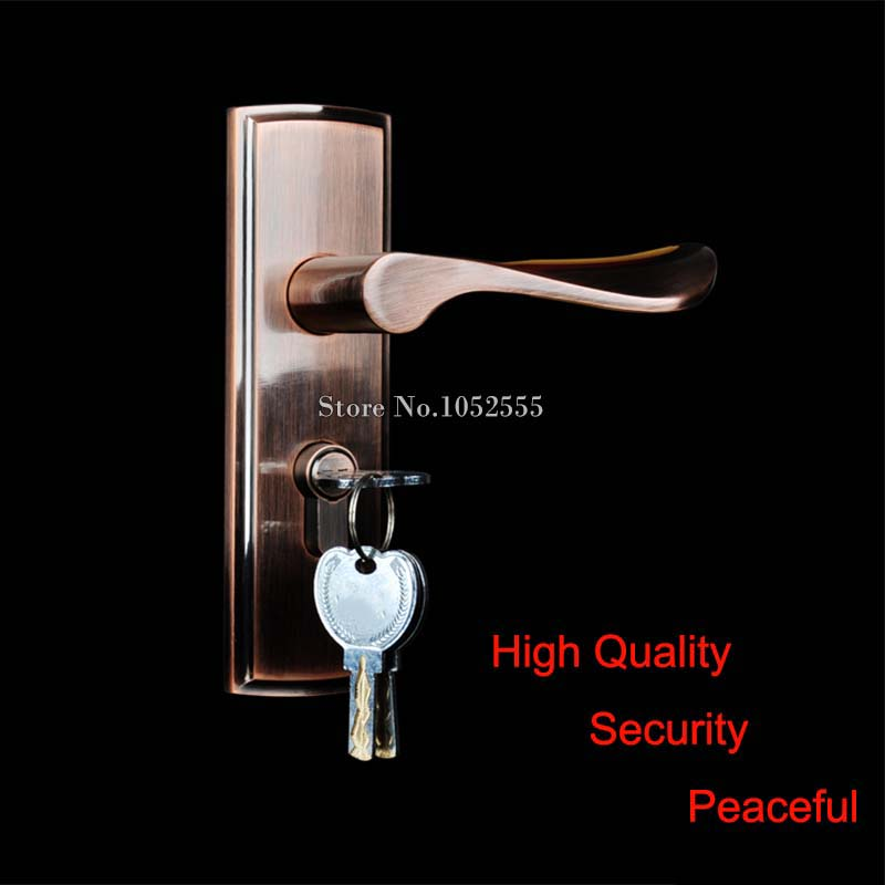 High Quality Door Lock Interior Door Handle Lock Set Living Room Bathroom Bedroom Door Lock Handle Home Security Decoration K125 europe standard 304 stainless steel interior door lock small 50size bedroom big 50size anti shelf strength handle lock