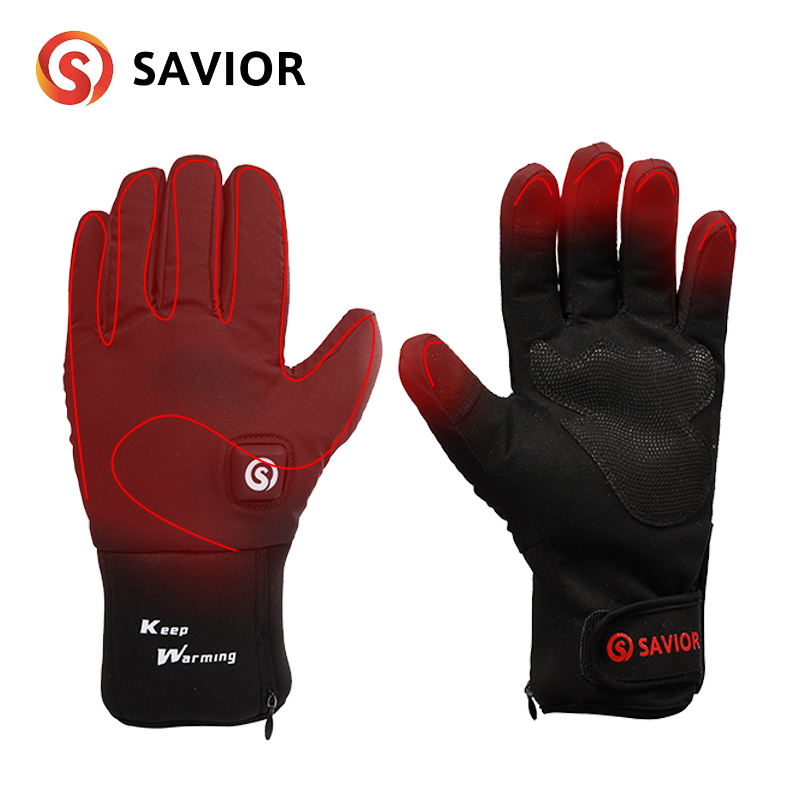 SAVIOR S-20 Lithium Battery Electric Heating Winter Fabric Gloves For Riding,cycling,low Temperature Men Women