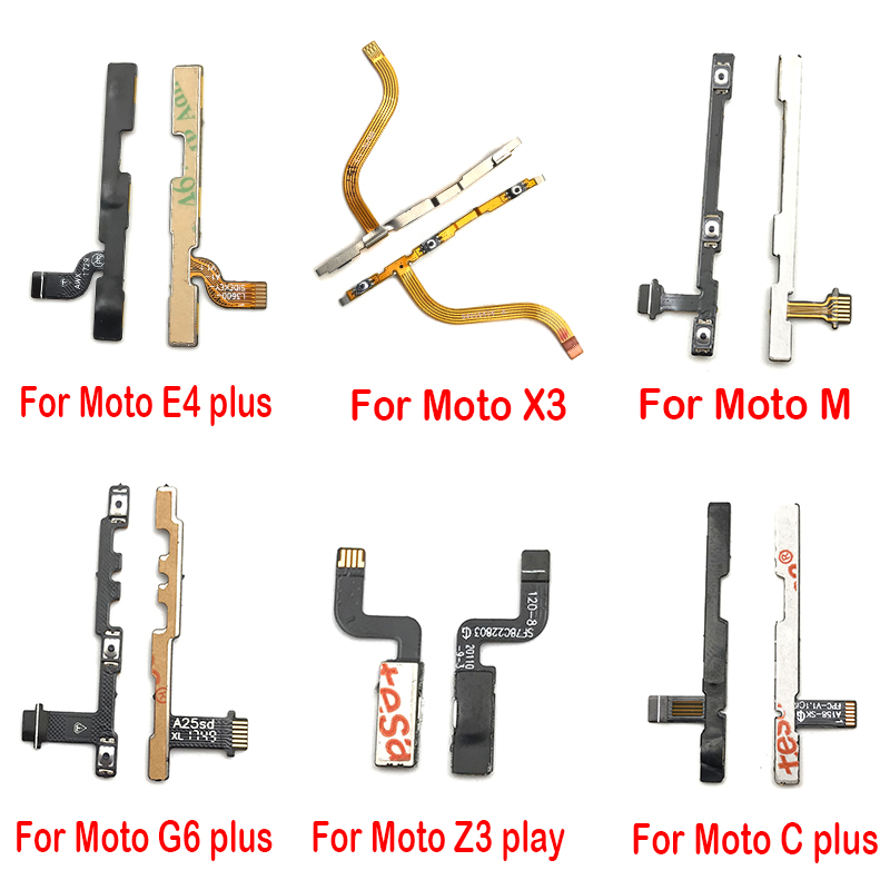 Power On/off Volume Key Button Flex Cable Ribbon For Motorola Moto M C E4 E3 Z3 Plus Play X3 X2 X Play