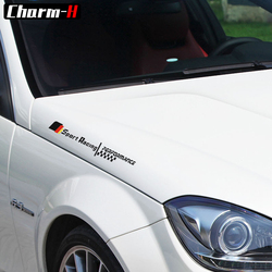 1X Reflective Front Fender Side Sport Racing Hood Bonnet Stickers for Mercedes Benz W205 W212 W204 W203 AMG Performance Decal