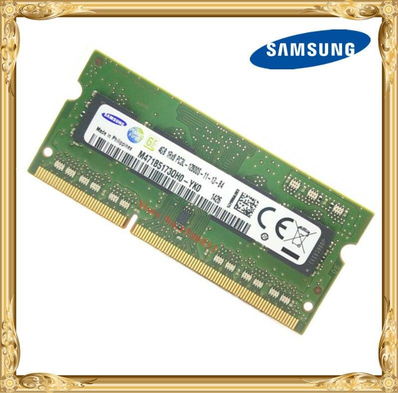 Samsung DDR3 4 GB 1600 MHz PC3 PC3L-12800S Ordinateur Portable mémoire RAM portable 12800 4G