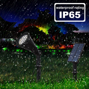 Image 4 - T SUNRISE 7 LED Solar Spotlight With Solar Panel Auto Color Changing Outdoor Lighting Solar Powered Lamp Wall Light