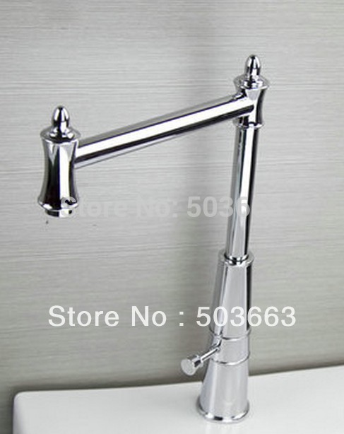 New Modern Polished Swivel 360 Kitchen Side Faucet Contemporary Chrome Mixer Brass Tap