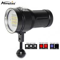 AloneFire DV49 Powerful Diving flashlight Underwater diver Scuba Video Light 15 XM L2 LED Photography Video Dive torch Lamp