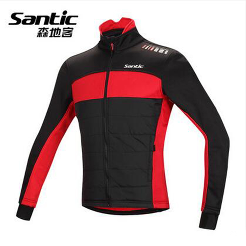 Santic Cycling Winter Men Jacket Long Sleeve Fleece Maillot Ciclismo Windproof Cheap Cycling Jersey Keep Warm Fleece SK0006 цена