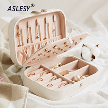 Portable Travel Jewelry Leather Boxes Three Layers Necklace Earring Storage Organizer Cosmetics Beauty Accessories Case Display