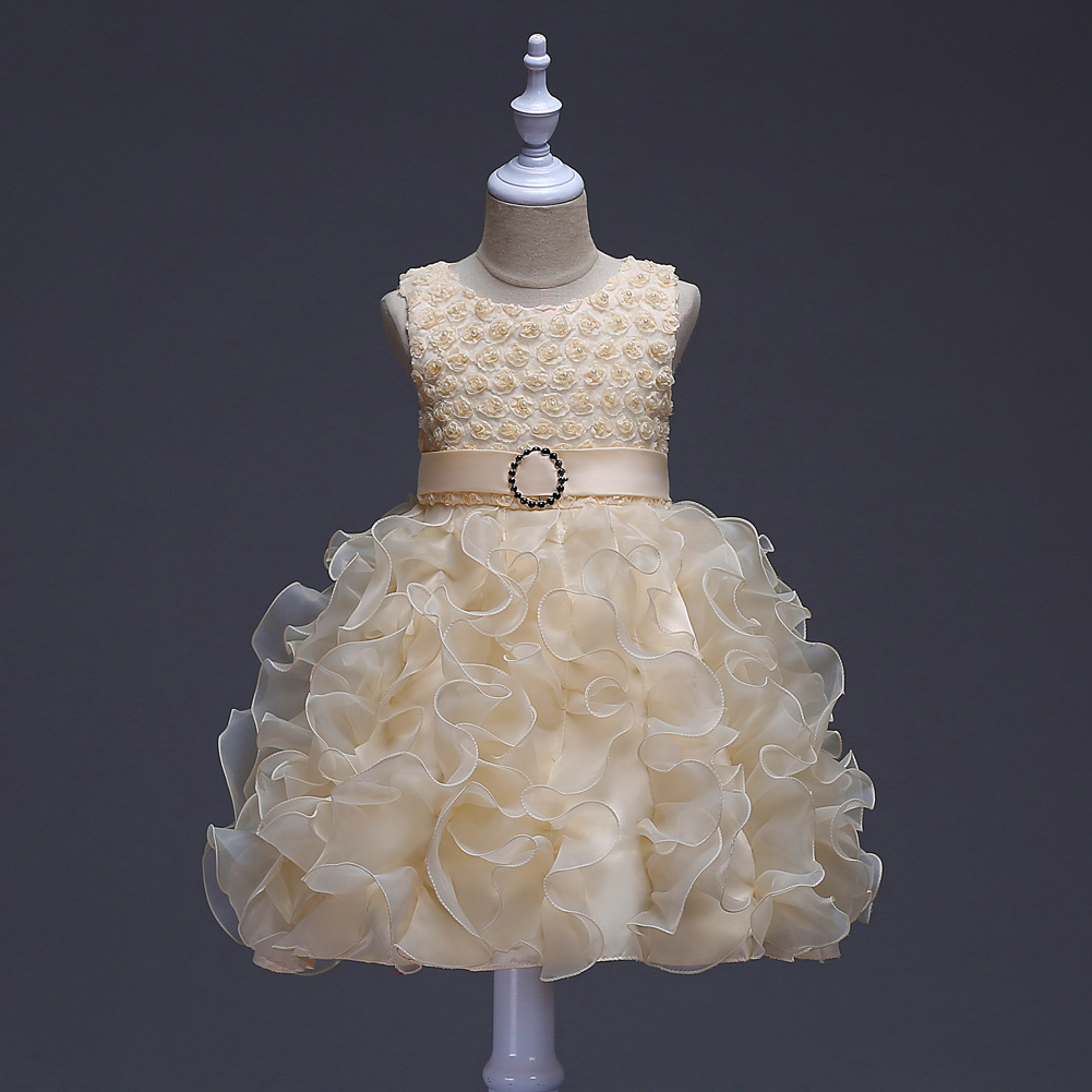 Cute Toddler Children Tulle Tutu Dresses Kids Girls Wedding Evening Ball Gowns 1 2 3 4 5 6 7 8 9 Years Birthday Dress for Girls baby girls white dresses for wedding and party wear girl princess dress kids lace clothes children costume age 3 4 5 6 7 8 9 10