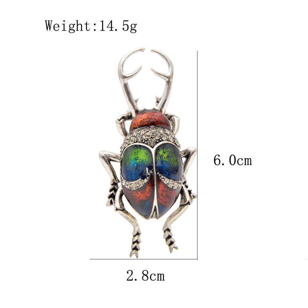 Cindy Xiang Vintage Lichtmetalen Enamel Beetle Broches Voor Vrouwen En Man Creatieve Bugs Pins Fashion Insect Badges 3 Kleuren Kiezen gift