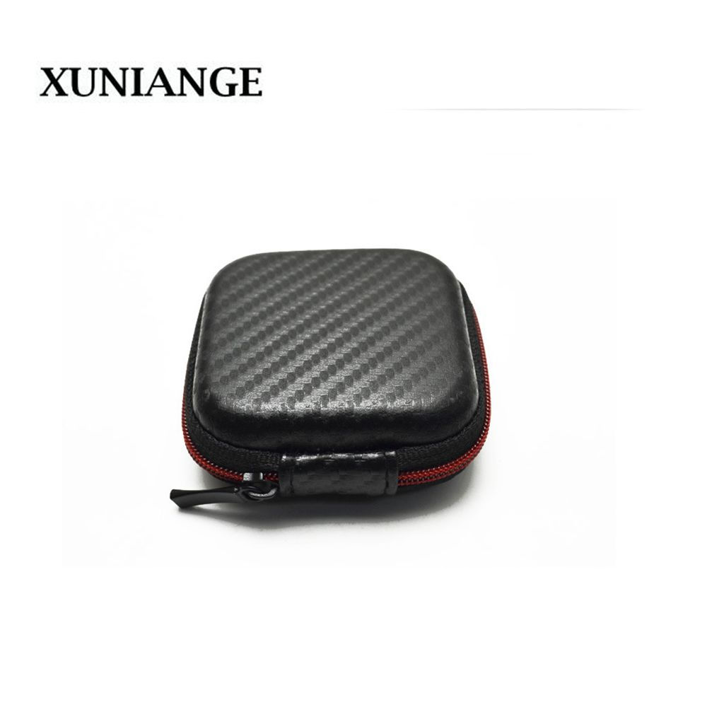 XUNIANGE High End Earphone Accessories Earphone Case Bag Headphones Portable Storage Case Bag Box Headphone Accessories