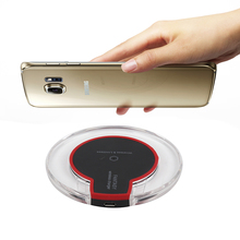 HAISSKY Transparent Fast Qi Wireless Charger Charging For iPhone X 8 Plus Samsung Galaxy S6 Edge Plus S8 Note 8 Elephone P9000