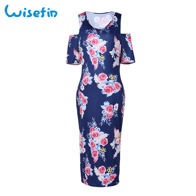 bbb0f12479 Wisefin Pregnant Dresses For Women Floral Print Maternity Women Dresses  Summer Party Dress Slim Pregnancy Clothes Photography