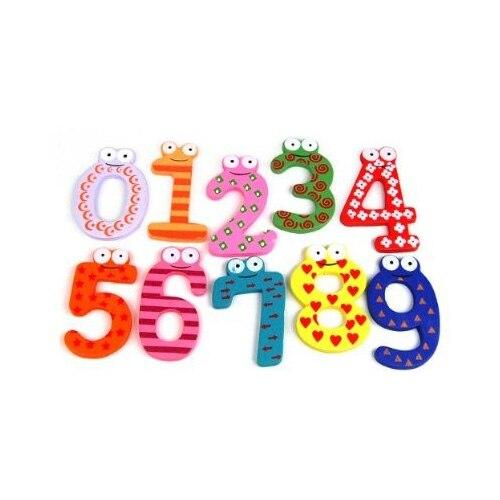 Веселые Fun Красочные Магнитные цифры деревянный Магниты на холодильник детские развивающие игрушки