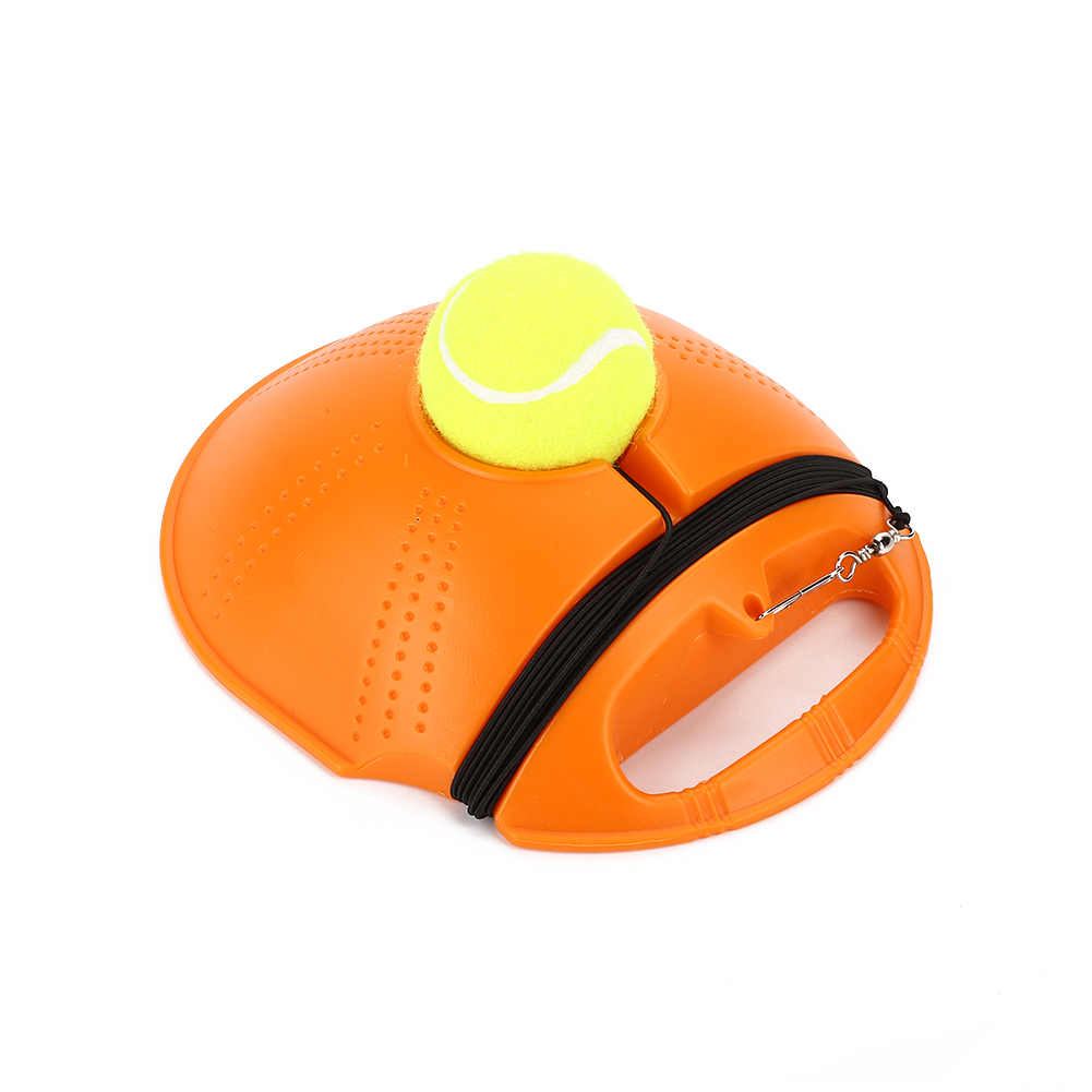 Сверхмощный Теннисный тренировочный инструмент Упражнение теннисный мяч спорт самообучающийся отскок мяч с теннисным тренером плинтус спарринг устройство - Цвет: Orange
