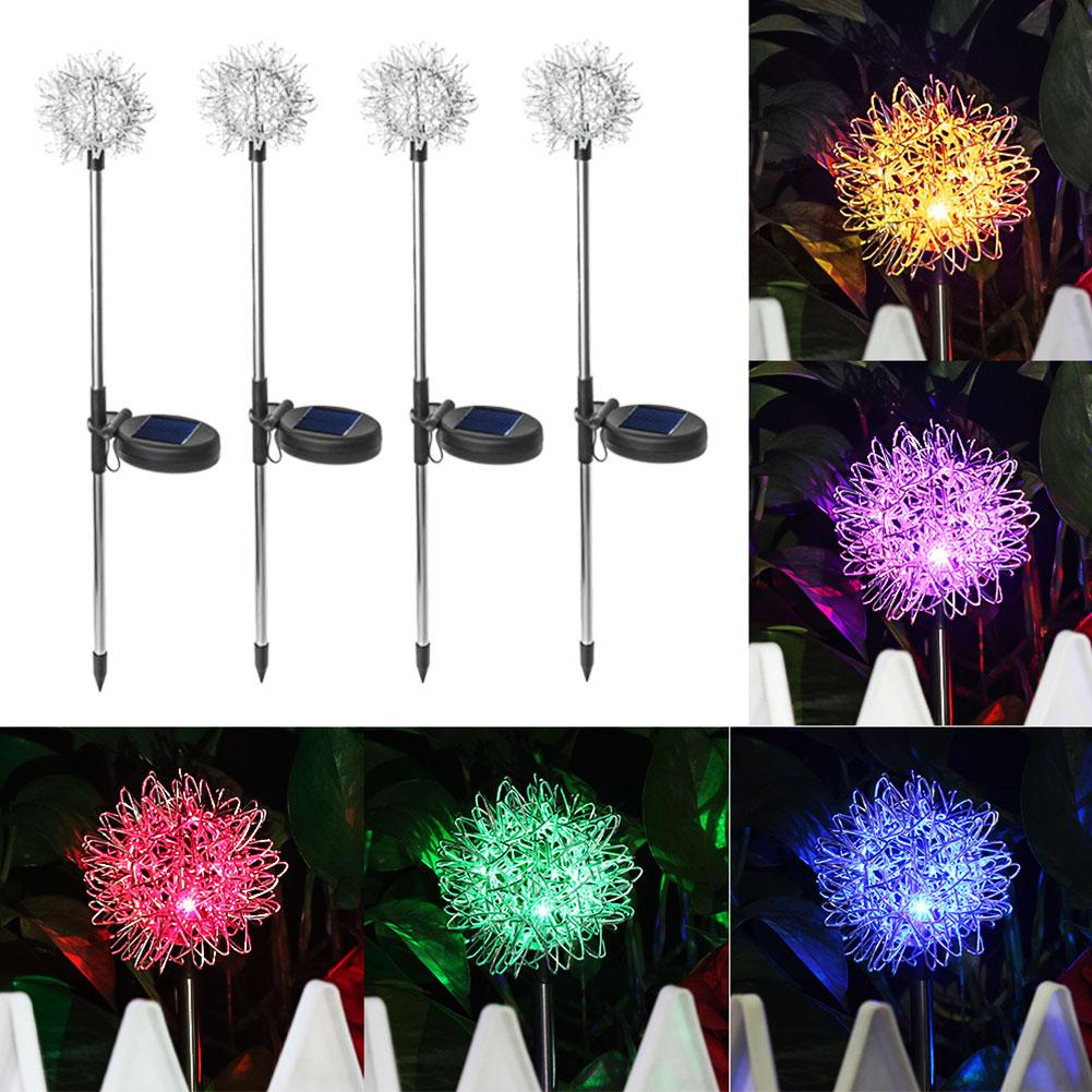 Outdoor IP44 Waterproof Dandelion LED Solar Light Garden Yard Lawn Lamp Decor Hot