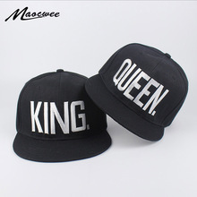 Lovers Embroidery King Queen Baseball Cap Dad Hat Bones Women Men Hat Male Female Snapback Street