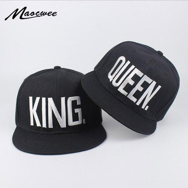 a28d898f1f3 Lovers Embroidery King Queen Baseball Cap Dad Hat Bones Women Men Hat Male Female  Snapback Street