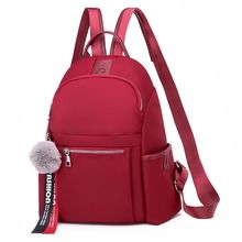 Simple Shoulder Bag Multi-pocket Design Solid Color Womens Fashion Casual Light Portable Backpack Travel