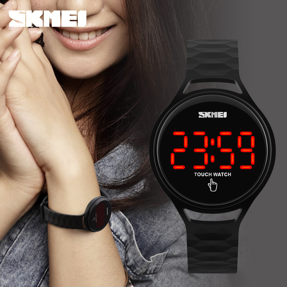 Women Watches Hot SKMEI Fashion Digital LED Touch Screen Wristwatches Lady Sport Watch Reloje Mujer Montre Femme Girl Dress