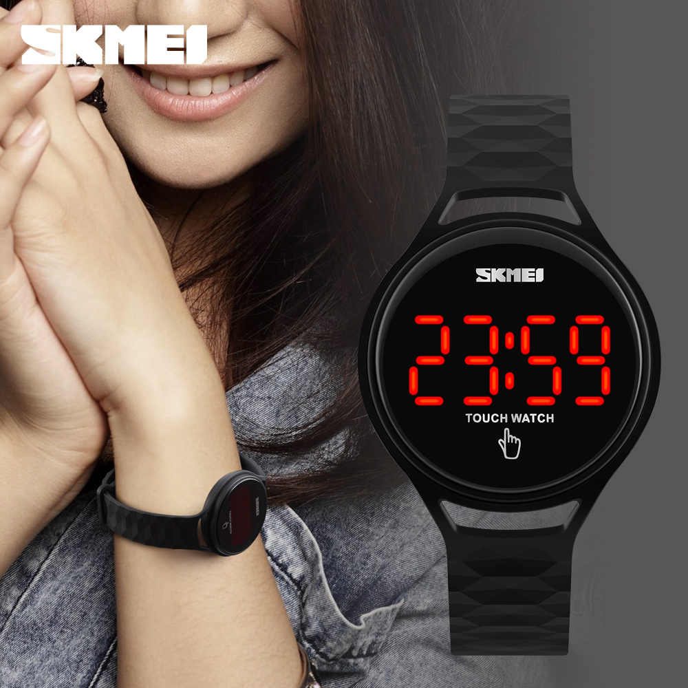 Donne Orologi Hot SKMEI Fashion Digital LED Touch Screen Orologi Da Polso della signora della vigilanza di sport reloje mujer montre femme Vestito Dalla Ragazza