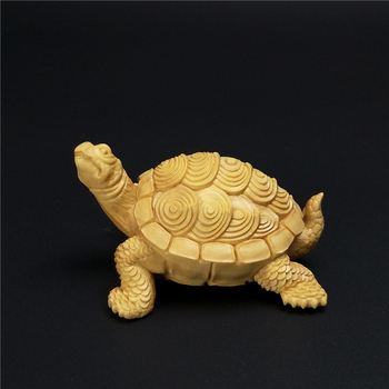 wood handmade dragon turtle Fengshui Tortoise wealth lucky statues wooden crafts Home decorations gift handicraft New year gift.