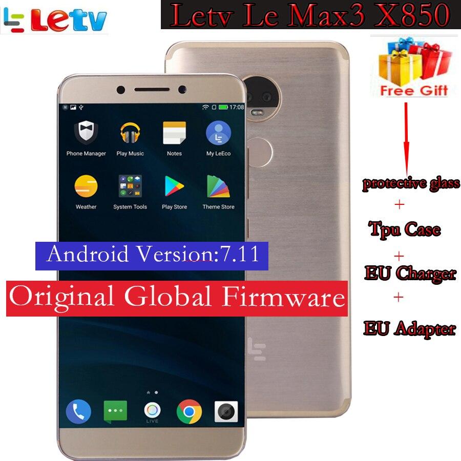 Original Letv LeEco RAM 6g ROM 128g le Max3 X850 FDD 4G teléfono celular 5,7 pulgadas Snapdragon 821 2560x1440 compara a X720 o X900