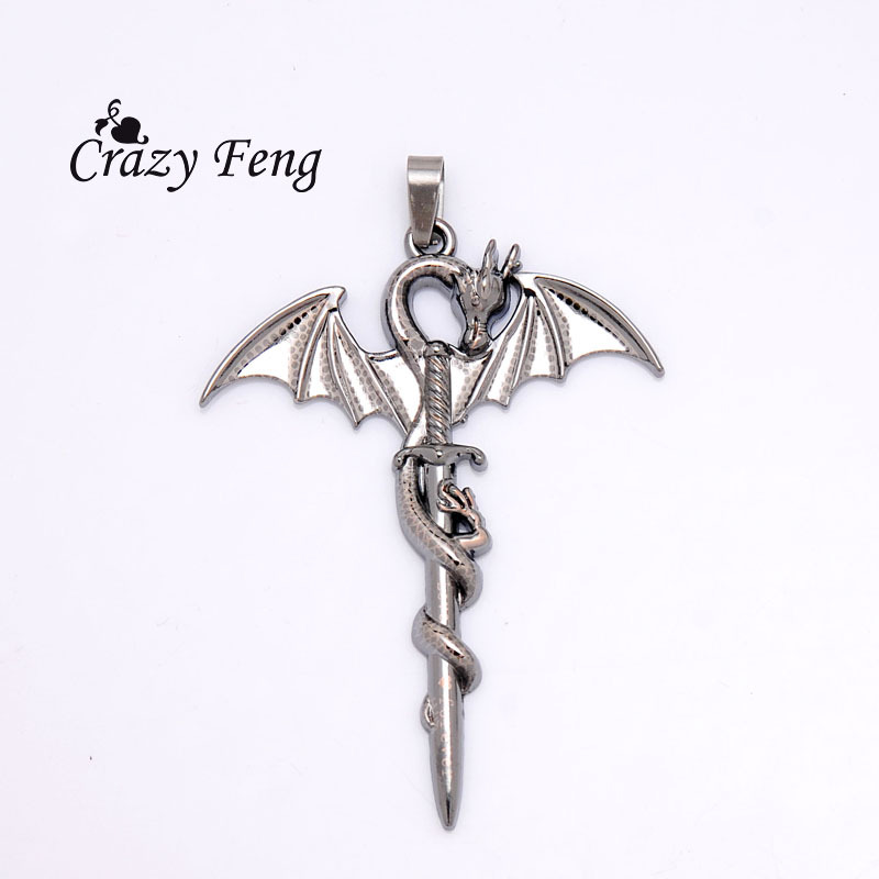 free shipping wholesale dragon new design stainless steel