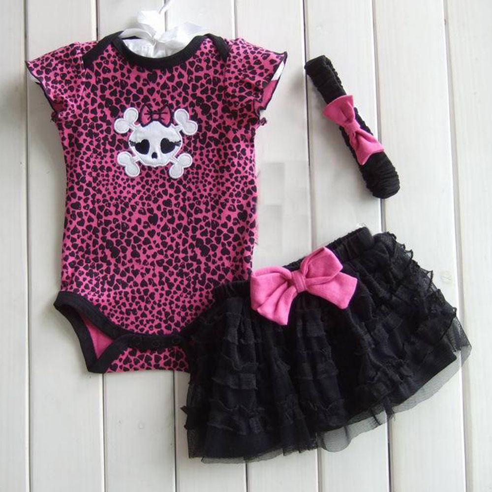 1Set Newborn Infant Baby Girl Polka Dot Headband+Romper+TUTU Outfit Clothes 1set baby girl polka dot headband romper tutu outfit party birthday costume 6 colors