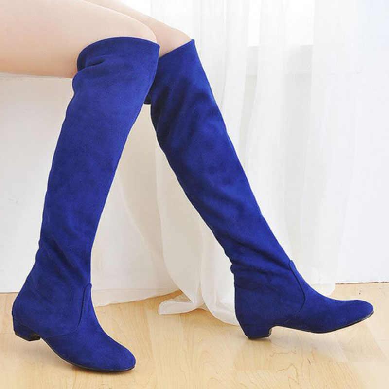 RIZABINA Thời Trang Nữ Co Giãn Giày Ấm Đàn Da Giày Nữ Công Sở Đế Giày Mùa Đông Ấm Áp Gợi Cảm Giày Size 34-43