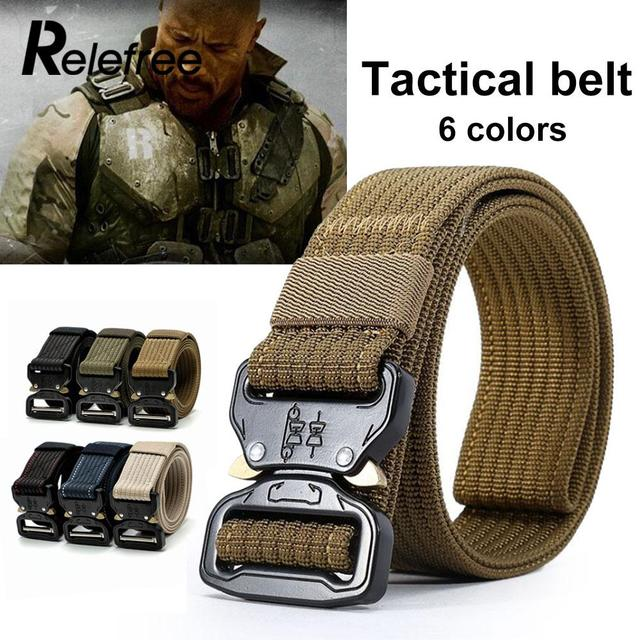 Waist Straps Training Belt Emergency Survival Adjustable Hunt Durability Tactical Belt 6 Color Zinc Alloy Buckle Outdoor