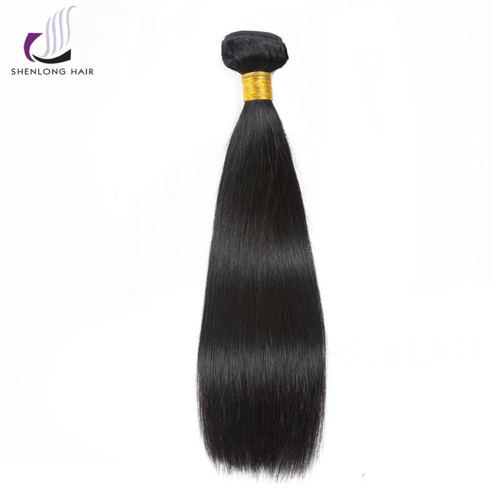 SHENLONG HAIR Mongolian Straight Human Hair Bundles 8-26 tums - Mänskligt hår (svart) - Foto 2