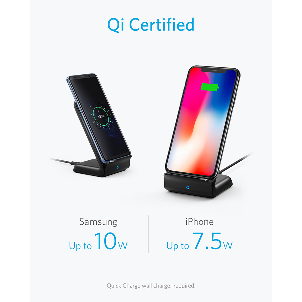 Anker PowerWave Fast Wireless Charger Stand Qi Certified 7 5W for iPhone 11 11 Pro 11