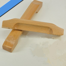 Free shipping hole space 128mm(5″) wood pulls knobs ,wood,clear varnish drawer cabinet cupboard pulls knobs B2222-128