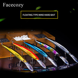 Image 4 - Facecozy bionic reflection 낚시 미노우 모양 인공 루어 브릴리언트 컬러 swimbait 낚시 하드 미끼 플로팅 크랭크