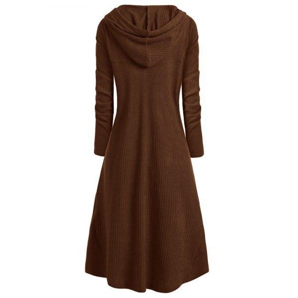 TryEverything Gothic Punk Jacket Women Black Hooded Plus size Winter 19 Coat Female Long Womens Jackets And Coats Clothing 7