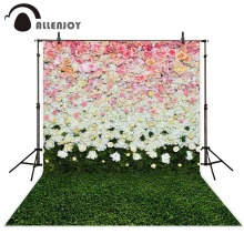 Allenjoy 5x7ft wedding Photography Backdrop flowers lawn interior child background for photography studio Custom size