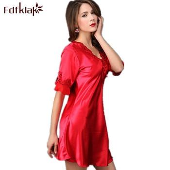 Ladies Nightdress Plus Size Silk Nightgown Dressing Gowns For Women Elegant Long Nightgowns Sleepwear Summer Dress XXL E0179 photo shoot