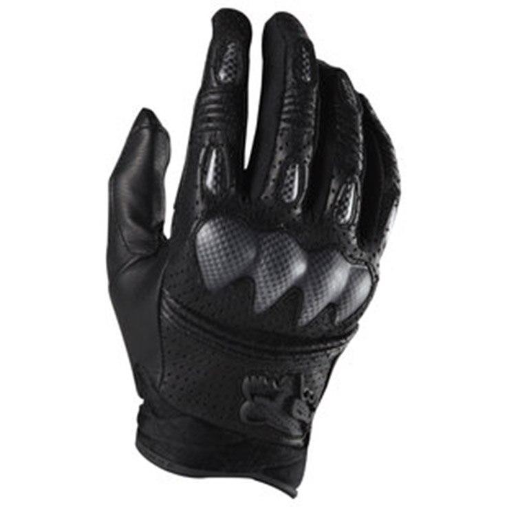 Cztery pory roku rękawice motocyklowe Moto skóra pełna osłona palca rękawice motocyklowe rękawice wyścigowe do jazdy na rowerze FOX Bomber style