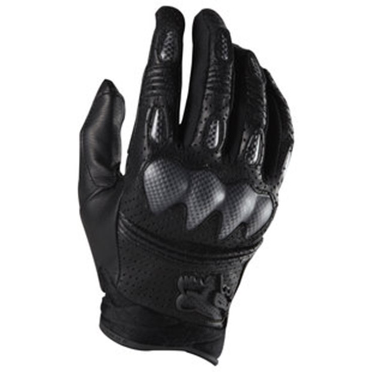Four Season Motorcycle Gloves Moto Leather Full Finger Protection Glove Motorbike Cycling Riding Racing Gloves FOX Bomber style