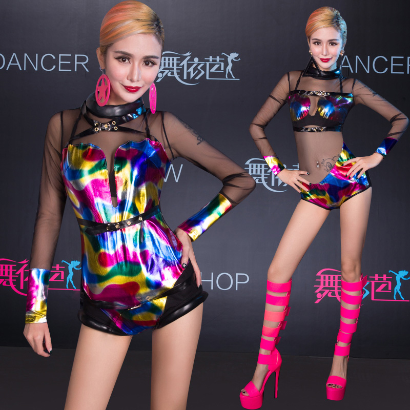 100% Quality New Sale Hmong Clothes Fashion Perspectivity Ds Costume Laser Dj Twirled Sexy Party Dancer Nightclub Hip-hop Jazz Stage Wear Pure White And Translucent