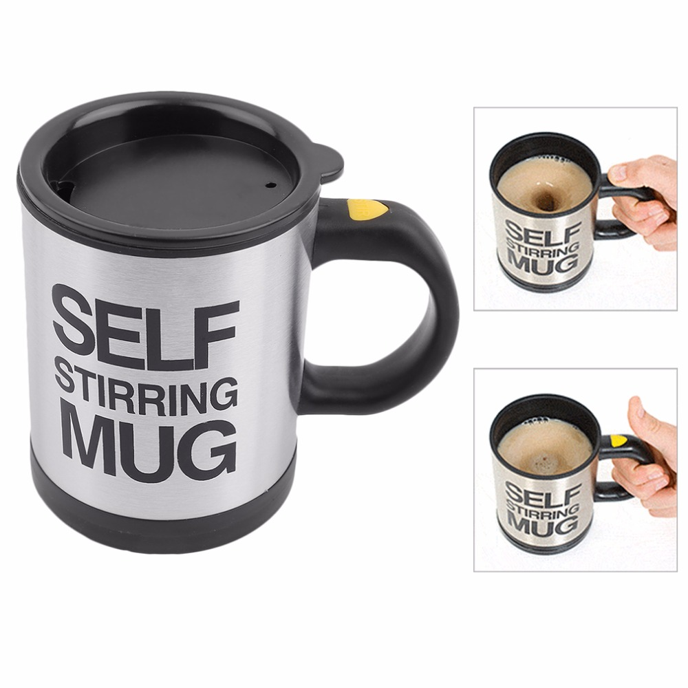 Electric Automatic Coffee Mixing Cup / Mug Drinkware Stainless Steel Cup Coffee Mug Self Stirring Tea Cup Tool High Quality цена и фото
