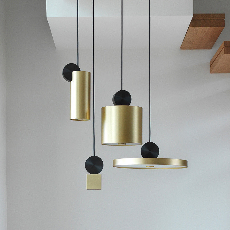 Postmoderne créatif nordique or salon couloir Restaurant Designer pendentif LED lampes Bar café modèle chambre pendentif lumières