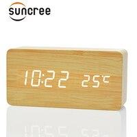 FiBiSonic Moderne Accueil LED numérique Réveil, Despertador Temp + date + temps Électronique Numérique Table De Bureau Horloges