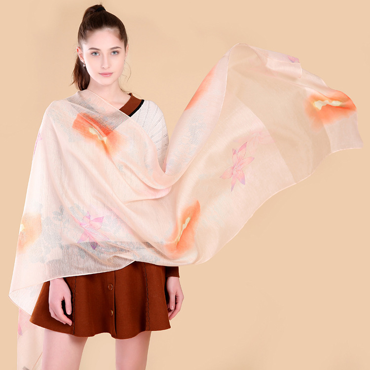 Winter Scarf Woman Digital Printed Female Soft Shawl and Scarves for Women