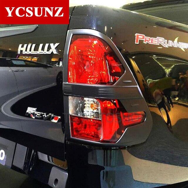 2016,2017 Pour Toyota Hilux Revo Accessoires ABS Noir Feu arrière  Couverture Moulure Pour Toyota