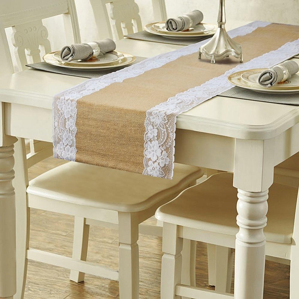 Achetez en gros toile de jute chemins de table en ligne - Chemin de table en toile de jute naturel ...