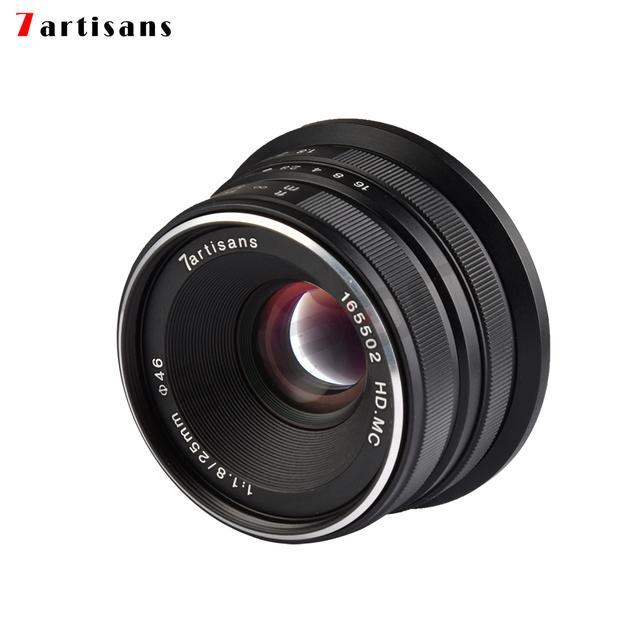 7artisans 25mm / F1.8 Prime Lens to All Single Series for Sony E Mount /Canon EOS-M Mount/Fuji FX Mount /M43 Panasonic Olympus