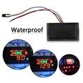 Multi-função À Prova D' Água LED Vermelho AC Digital Voltímetro Voltage Meter Medidor de Motocicleta Elétrica 12 V de Chumbo-ácido Alta qualidade