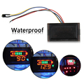 Multi-function Waterproof Red LED AC Digital Voltmeter Electric Motorcycle 12V Lead-acid Voltage Meter Gauge High Quality